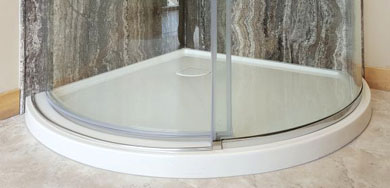 glass shower base