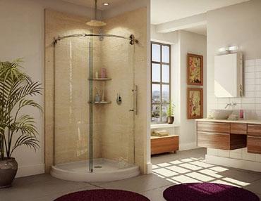 kinetic kontour glass shower door
