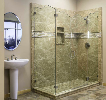 shower with glass enclosure installation and services