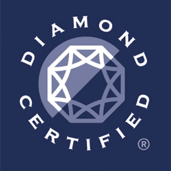 diamond certified logo blue
