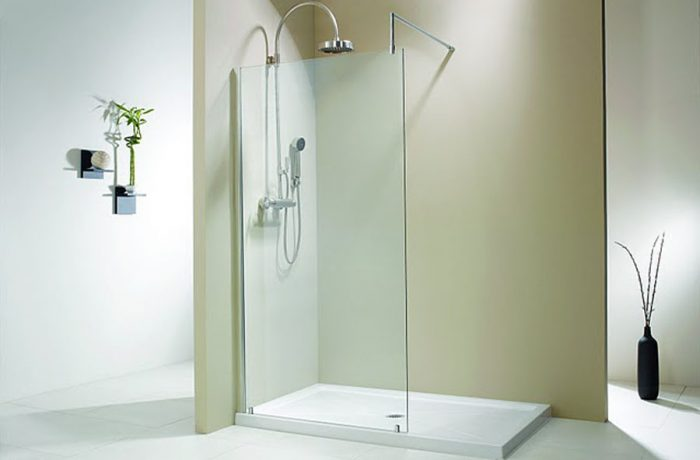 Evolution 6' Two Wall Single Panel Walk-In Shower