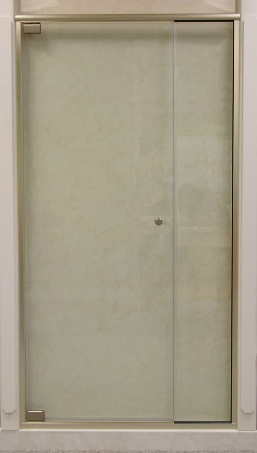 MADRID 991 SEMI-FRAMELESS PIVOT DOOR WITH IN-LINE PANEL – 5/16″ GLASS