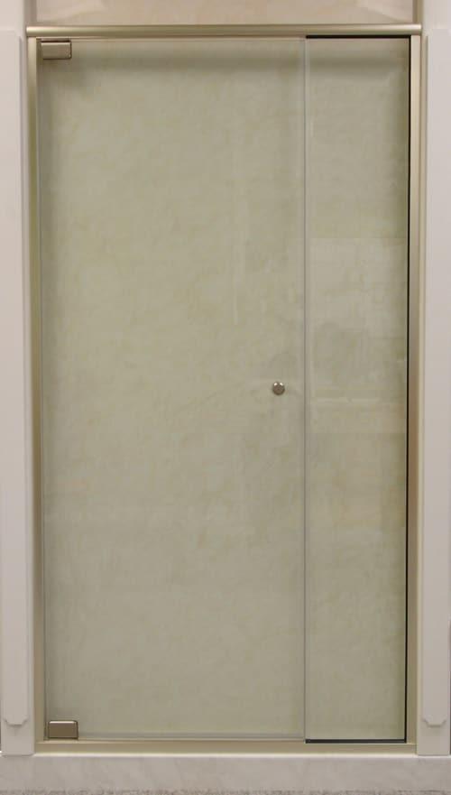 MADRID 991 SEMI-FRAMELESS PIVOT DOOR WITH IN-LINE PANEL – 5/16″ GLASS