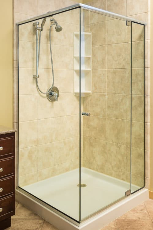 MADRID 993 SEMI-FRAMELESS 2 SIDED PIVOT DOOR – 5/16″ GLASS