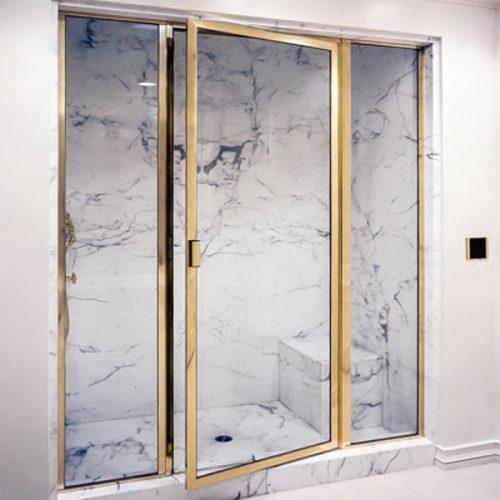 brass framed shower enclosures