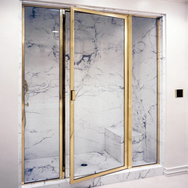 Brass Framed Shower Enclosures From Schicker Luxury Shower