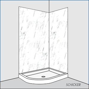 half round shower
