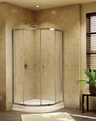 Alina Round slider, shower height shower door
