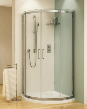 Apollo Arc slider, shower height shower door