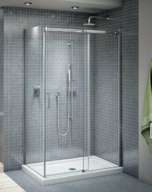 Apollo CRP 2 Sided slider, shower height shower door