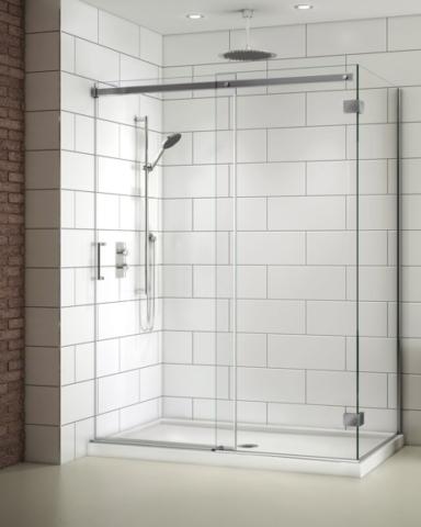 Apollo CW 2 Sided slider, shower height shower door