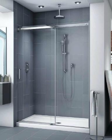 Apollo In-Line slider, shower height shower door