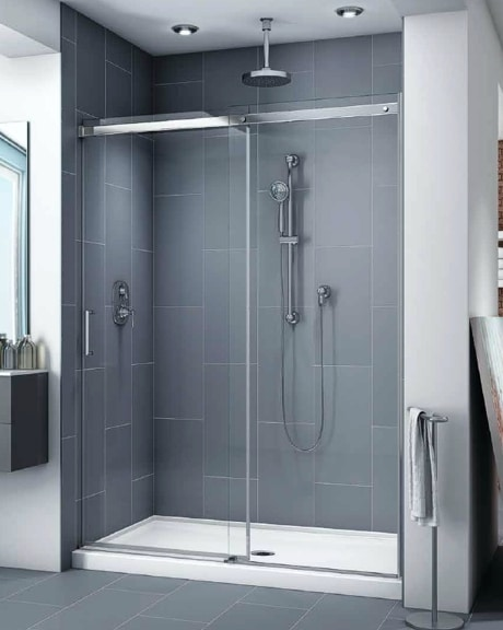 Apollo In-Line slider, shower height shower door
