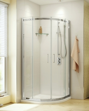 Apollo Round slider, shower height shower door