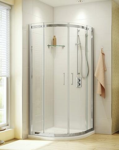 Apollo Round slider, shower height shower door