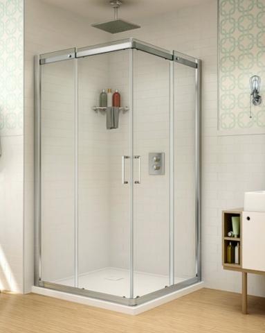 Apollo Square slider, shower height shower door