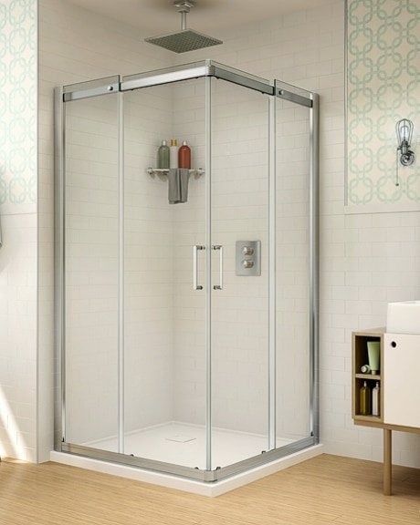 Apollo Square slider, shower height shower door