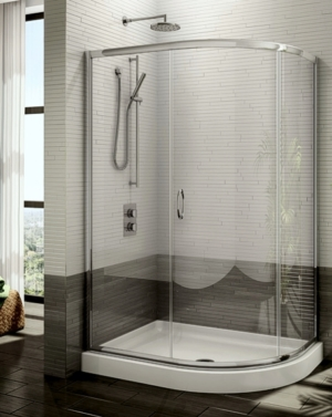 Capri Half-Round 3 Slider shower height door