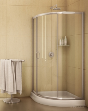 Capri Round 3 Slider shower height door