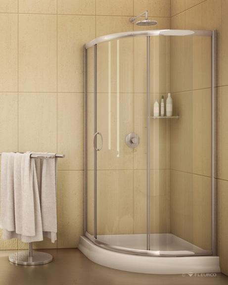 Capri Round 3 Slider shower height door