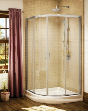 Capri Round 4 Slider shower height door