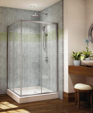 Capri Square Slider shower height door