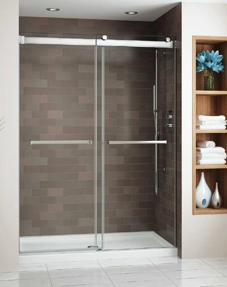 Gemini Bypass Shower Slider Schicker Luxury Shower Doors