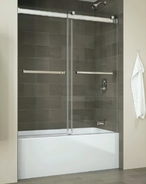 Gemini Bypass Tub Slider shower door