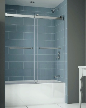 Gemini Plus Bypass Tub Slider shower door