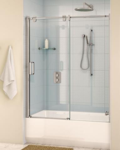 Glide In-Line Tub Slider shower door