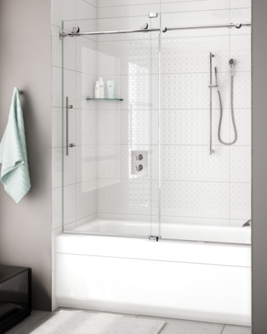 K2 In-Line Tub Slider shower door