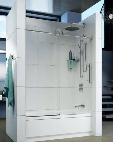 Kinetik KN In-Line Tub Slider shower door