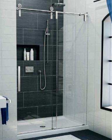 Kinetik KS In-Line Slider shower height door