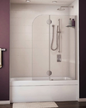 Monaco Round Top Tub Shield shower door