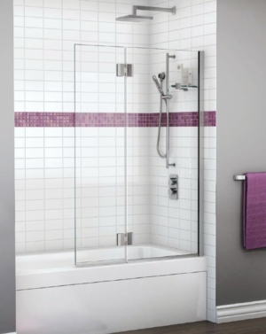 Monaco Square Top Tub Shield shower door