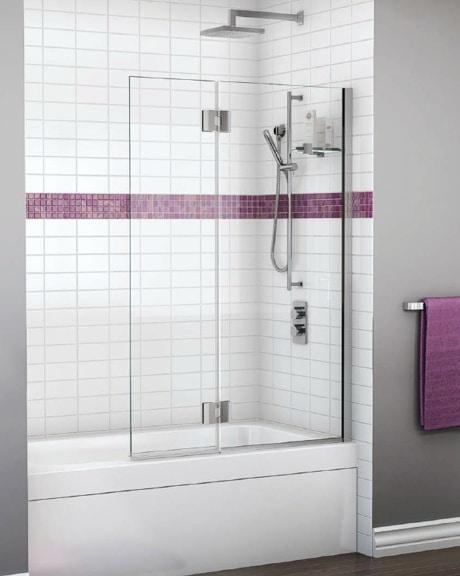 Monaco Square Top Tub Shield shower door