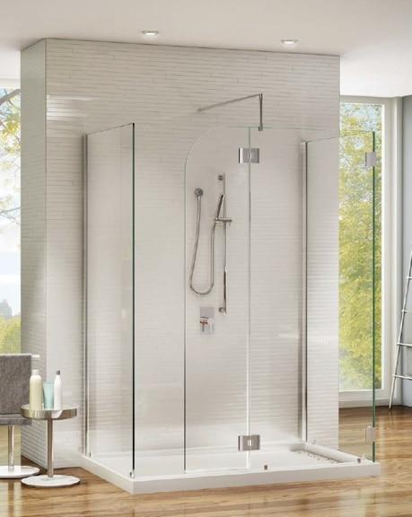 "Monaco ""V"" Shower Shield"" shower height door"