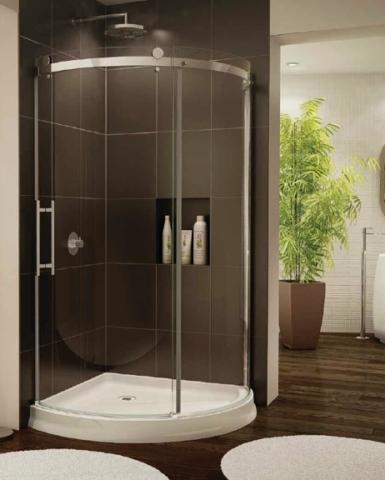 Novara Arc Slider shower height door