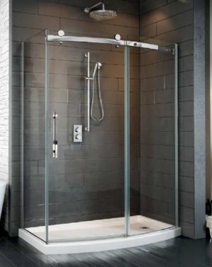 Novara Bowfront 2 Sided Slider shower height door