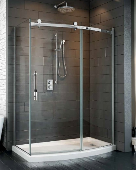 Novara Bowfront 2 Sided Slider shower height door