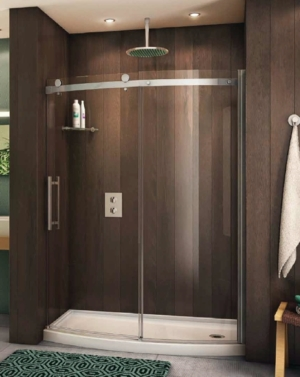 Novara Bowfront Slider shower height door