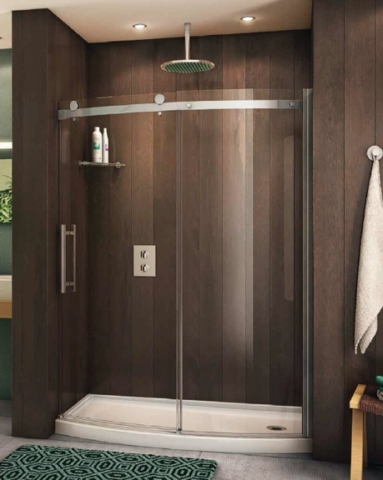 Novara Bowfront Slider shower height door