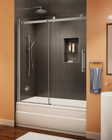 Novara In-Line Tub Slider shower door