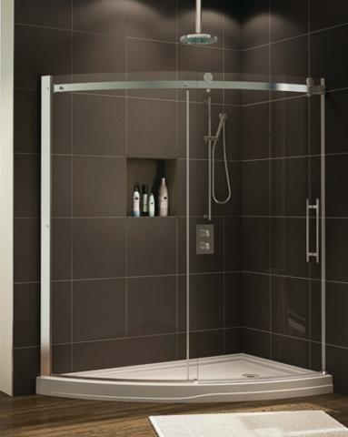 Novara Slice Slider shower height door