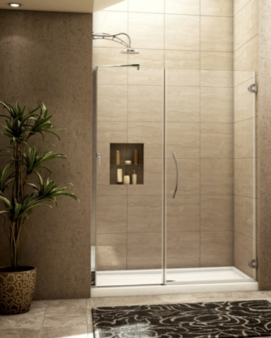Platinum Kara In-Line Pivot Door shower height