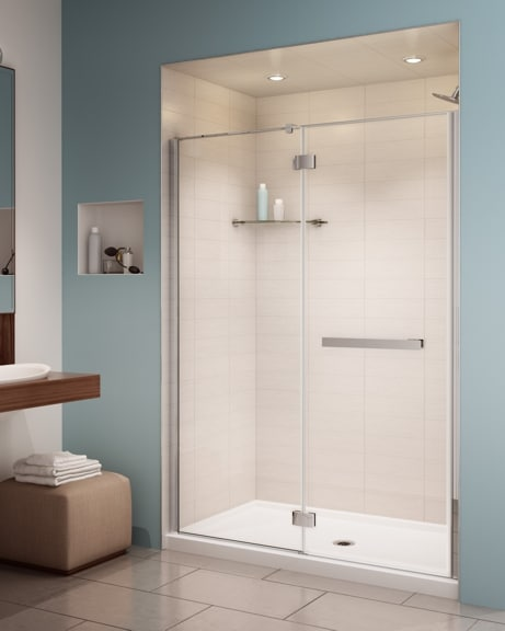 Pura In-Line Pivot Door shower height
