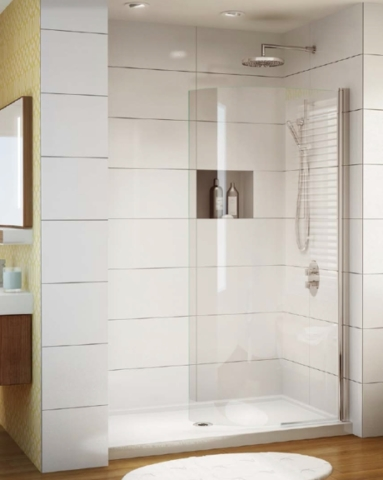 Siena Solo Curved Shower Shield shower height