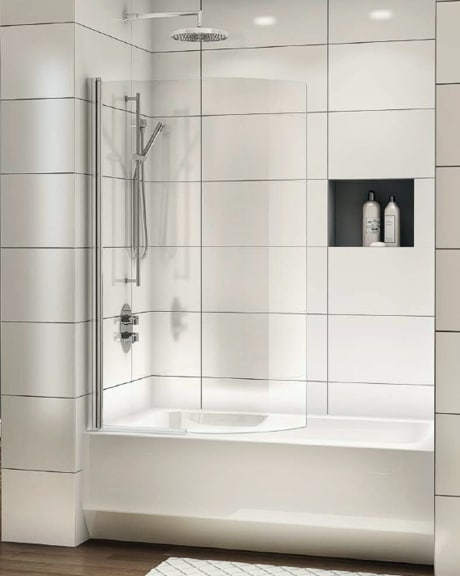 Siena Solo Curved Tub Shield shower door