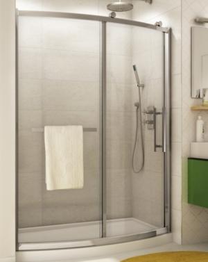 Sorrento Bowfront Slider shower height door