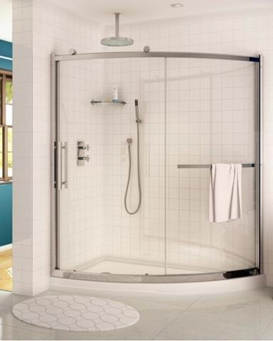 Sorrento Slice Slider shower height door